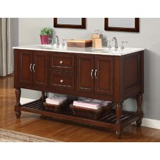 "Mission Turnleg Spa 60"" Double Bathroom Vanity Set"