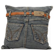 Denim Back Jean Throw Pillow