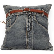Denim Front Jean Throw Pillow