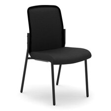 VL508 Armless Mesh Back Stacking Chair with Cushion
