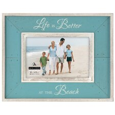 'Life Is Better At The Beach' 4'' x 6'' Picture Frame