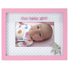 Our Baby Girl Elephant Picture Frame