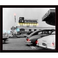 Black and White Budweiser Lighted LED Poster