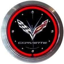 """15"""" Corvette C7 Neon Wall Clock"""