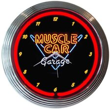 "15"" Muscle Car Garage Wall Clock"