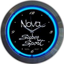 """Cars and Motorcycles 15"""" Nova Super Sport Wall Clock"""