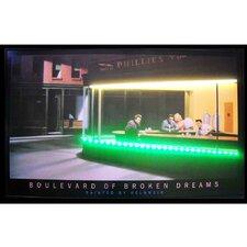 Boulevard of Broken Dreams Neon LED Framed Vintage Advertisement