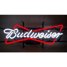 Business Signs Budweiser Bowtie Neon Sign