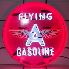 Flying A Gasoline Neon Sign