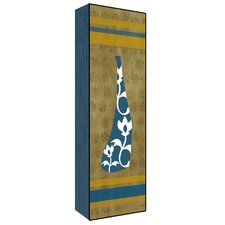 Vase Wall Art on Wood in Blue