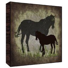 Vintage Horses Wall Art on Wood