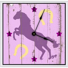 "Cowgirl's Horse 11"" Art Wall Clock"