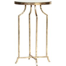 Round Mirrored End Table