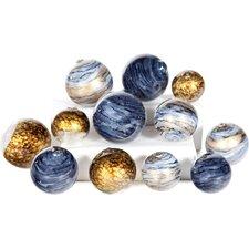 12 Piece Glass Spheres Set