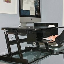 """16.3"""" H x 32"""" W Stand Desk Riser with Monitor Stand"""