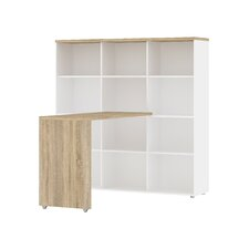 Whitman Plus Writing Desk with Bookcase