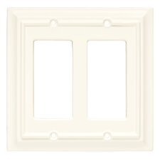 Wood Architectural Double Decorator Wall Plate