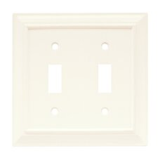 Wood Architectural Double Switch Wall Plate