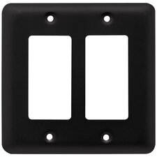 Stamped Steel Round Double Decorator Wall Plate