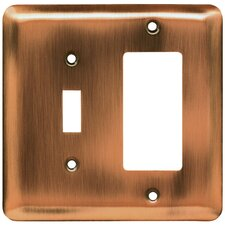 Stamped Steel Round Single Switch/Decorator Wall Plate