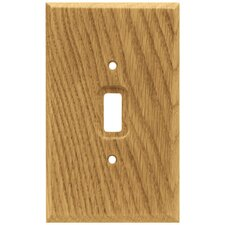 Wood Square Single Switch Wall Plate