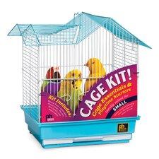 Double Roof Parakeet Bird Starter Kit