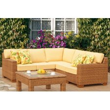 Java 5 Piece Sectional with Cushion