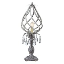 """Twisted and Beaded Framed 21"""" H Table Lamp with Novelty Shade"""