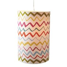Zig-Zag Pattern 1 Light Drum Pendant
