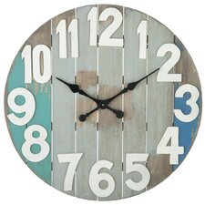 "Oversized 28.88"" Slatted Wall Clock"