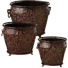 3 Piece Round Pot Planter Set