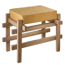 "24"" Block Stool with Upholstered Seat"