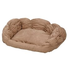 Quiet Time Scalloped Shar-Pei Bolster Dog Bed