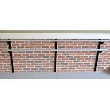 Wall Barre Series Modern Aluminum Double Bar Adjustable Height Ballet Barre Kit
