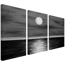 'Moon Rising' by Jim Morana 3 Piece Painting Print on Canvas Set