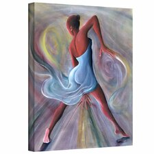 'Blue Dress' by Ikahl Beckford Painting Print on Wrapped Canvas
