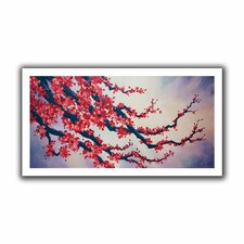 'Red Cherry Blossom' by Shiela Gosselin Canvas Poster