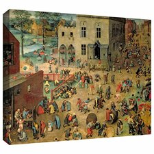 'Childrens Games' by Pieter Bruegel Gallery Wrapped on Canvas