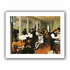 'The Cotton Office, New Orleans' by Edgar Degas Canvas Poster