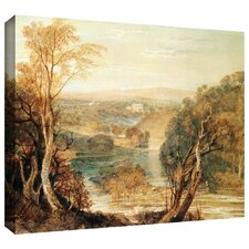 'The River Wharfe with a Distant View of Barden Tower' by William Turner Gallery-Wrapped on Canvas