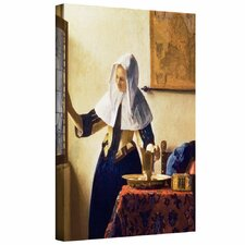 'Young Woman with a Water Jug' by Johannes Vermeer Gallery Wrapped on Canvas