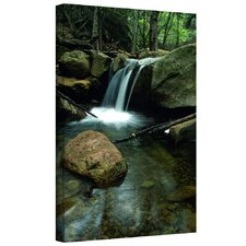 'Waterfall in the Woods' by Kathy Yates Gallery Wrapped on Canvas