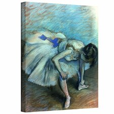 'Seated Dancer' by Edgar Degas Gallery-Wrapped on Canvas