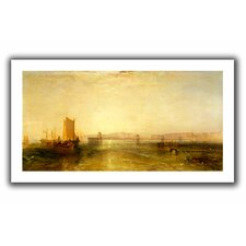 'Brighton from the Sea' by William Turner Canvas Poster