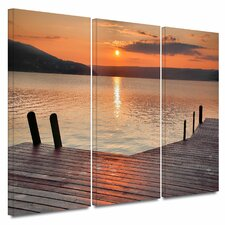 """""""Another Kekua Sunrise"""" by Steve Ainsworth 3 Piece Photographic Print Gallery-Wrapped on Canvas Set"""