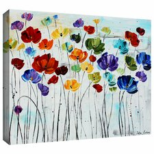 'Lilies' by Jolina Anthony Painting Print on Canvas