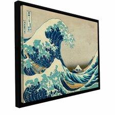 'The Great Wave Off Kanagawa' by Katsushika Hokusai Floater Framed Painting Print
