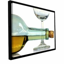 'Bottle Plus Glass' by Dan Holm Floater Framed Photographic Print Gallery-Wrapped on Canvas