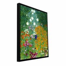 'Farm Garden' by Gustav Klimt Framed Painting Print