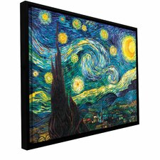 """Starry Night"" by Vincent Van Gogh Gallery Wrapped Floater-Framed Canvas"